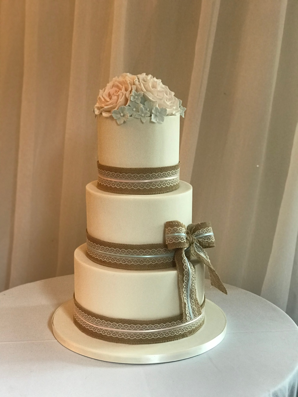 Rustic Wedding Cake at Manor Parc Hotel, Cardiff